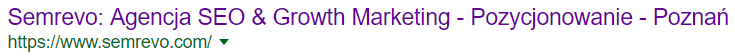 Tytuł strony internetowej w wynikach wyszukiwania