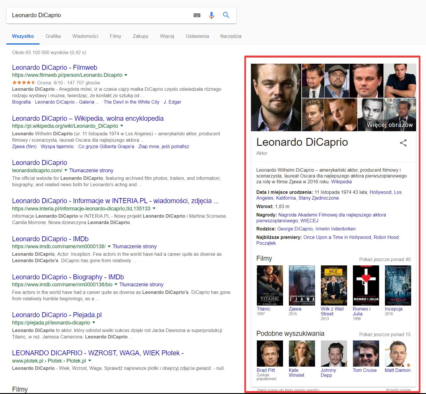 Graf wiedzy w Google