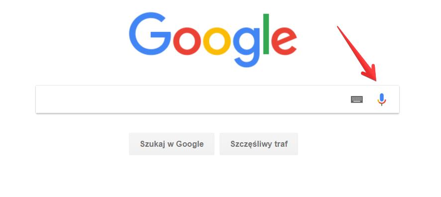 Ikona wyszukiwania głosowego w Google